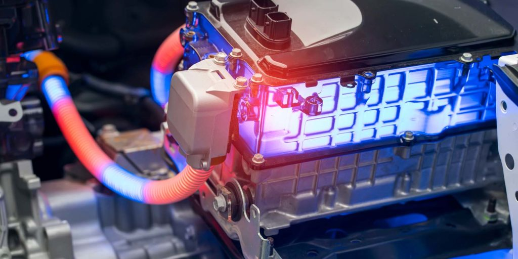 Battery concept powering electric vehicle.