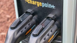 a chargepoint charging station representing sbe stock