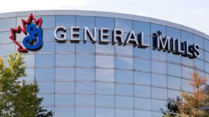 A General Mills (GIS) sign on a General Mills office in Ontario, Canada.