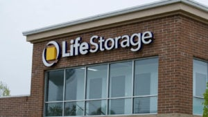 Life Storage (LSI) sign on the side of one of its facilities in Illinois.