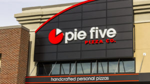Image of a Pie Five Pizza location belonging to Rave Restaurant (RAVE).