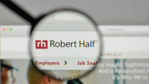 The Robert Half International logo on the website homepage