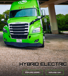 Picture Showing the Current Hybrid Hyliion Truck
