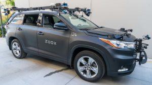 A Zoox self-driving vehicle.