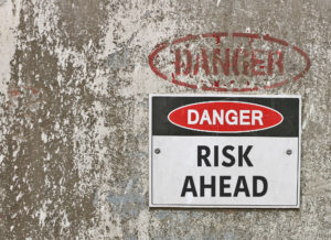danger, risk ahead warning sign