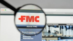 FMC logo on the website homepage FMC stock