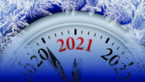 best investments to start 2021 An image of a clock counting down to 2021.