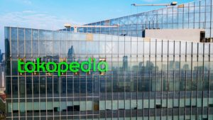 An aerial view of the Tokopedia office.