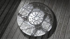 un rendu 3D de la crypto-monnaie Cardano Coin (ADA)