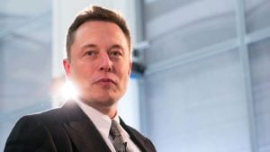 A close-up shot of Tesla (TSLA) CEO Elon Musk.