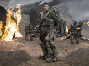 "Still image of Tom Cruise in ""Edge of Tomorrow"" film."