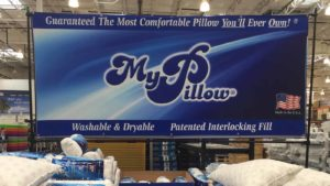 Image of a MyPillow section in a store