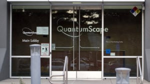 The entrance to QuantumScape Headquarters QS stock