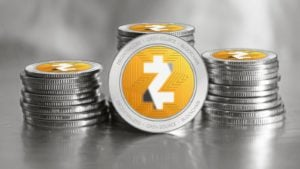 digital representation of the Zcash (ZEC) cryptocurrency