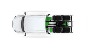 Overhead shot of Hyliion hybrid diesel's modular design.