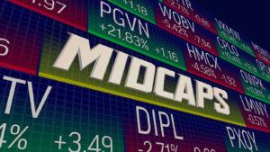 Mid-Cap Stocks Class Category Market Ticker Prices 3d Illustration