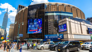 Madison Square Garden in New York City, USA MSGE stock