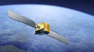 (ASTS stock, space stocks) satellite over the Earth