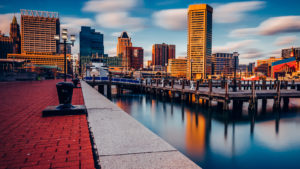 A photo of the Baltimore waterfront.
