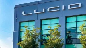 A Lucid Motors (CCIV) building in Newark, California.