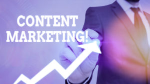 Writing note showing Content Marketing. Business photo showcasing involves creation and sharing of online material.