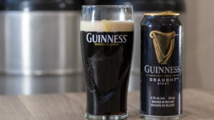 A pint of Guinness Draught Stout