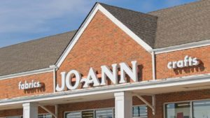 A close-up sot of a Joann Fabric and Crafts Store (JOAN) in Cayce, South Carolina.