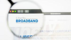 Illustrative Editorial of Liberty Broadband website homepage. Liberty Broadband logo visible on display screen.