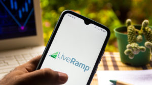 illustration the LiveRamp Holdings logo seen displayed on a smartphone