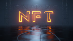 Image of a neon sign spelling out NFT.