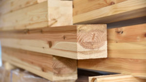 PCH stock Timber to be used in the site of wooden housing construction