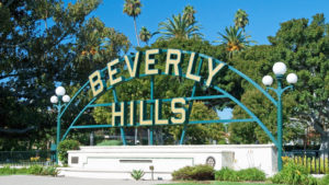 A Beverly Hills sign in Hollywood.