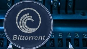 A concept image of the BitTorrent (BTT) token.