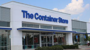 photo of the store front of a The Container Store (TCS) branded building