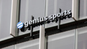 Genius sports logo. Genius Sports is a sports data and technology company that provides data management and integrity services.