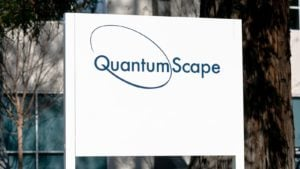 A sign for QuantumScape (QS).
