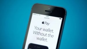 A close-up shot of the Apple Pay page