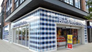 A Bath & Bodyworks storefront