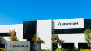 A corporate office for the technology company Lumentum during the daytime.