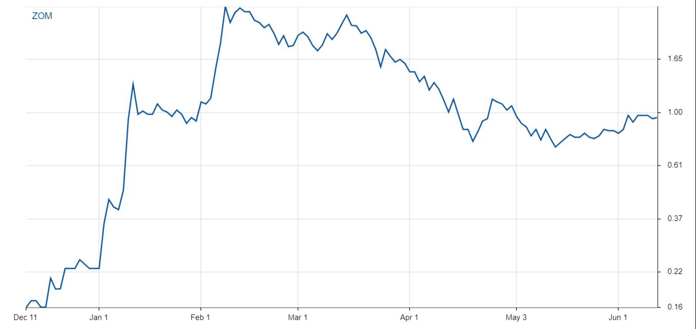Price Performance ZOM stock