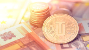 Utrust (UTK) cryptocurrency concept coin
