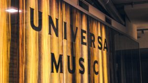 A sign for the Universal Music Group.