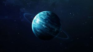 A concept image of Uranus using NASA imagery elements.