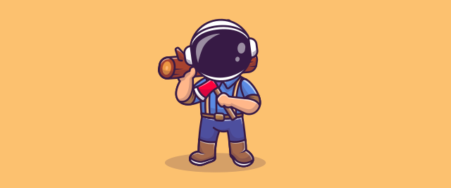 astronaut lumberjack