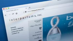 An image of the Inter Parfums (IPAR) website.