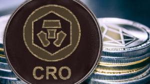 A concept image of the Crypto.com Coin token, CRO.