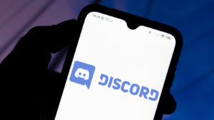 phone with discord logo on it