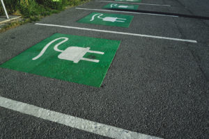 parking space for electric cars