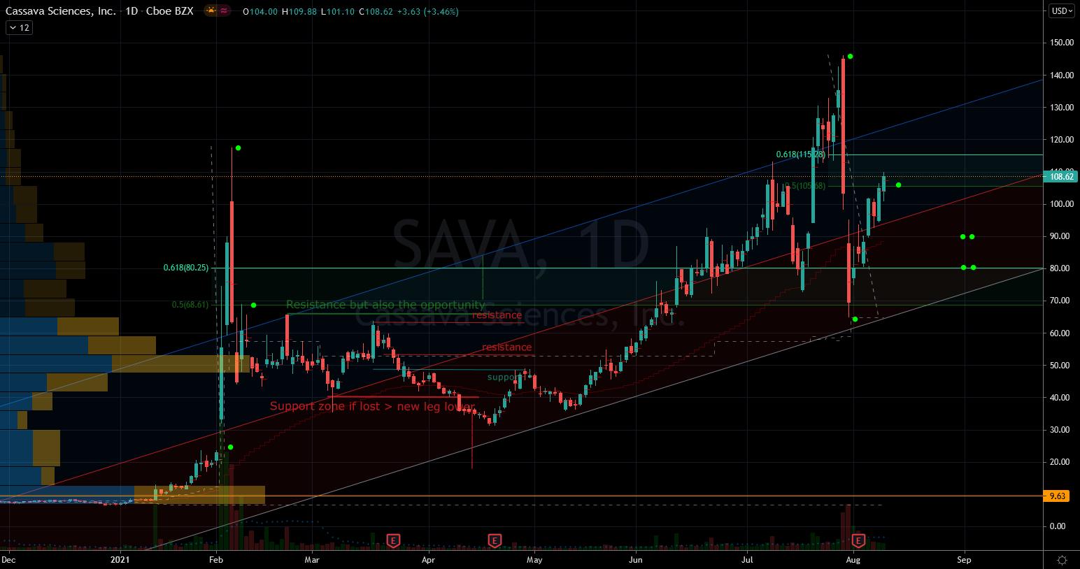 Cassava (SAVA) Stock Chart Showing Wild Swings