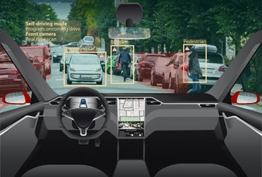 A concept image of a self-driving car.